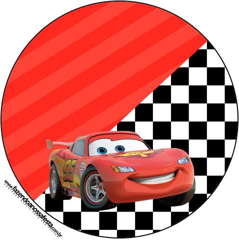 Rtulo Para Topper De Docinho Carros Disney Fazendo A