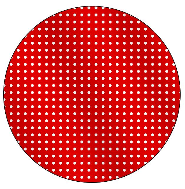 Rótulo para Tubete Fundo Xadrez Vermelho e Poá