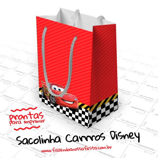 Sacolinha Surpresa Carros Disney Modelo