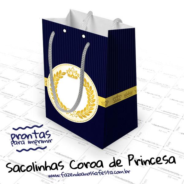 Sacolinha Coroa Príncipe Azul Marinho - Modelo