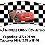 Saias Wrappers para Cupcakes 2 Carros Disney