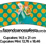 Saias Wrappers para Cupcakes 2 Frozen Fever Cute