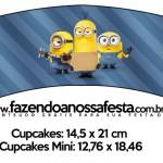 Saias Wrappers para Cupcakes 2 Os Minions