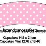 Saias Wrappers para Cupcakes Azul e Rosa
