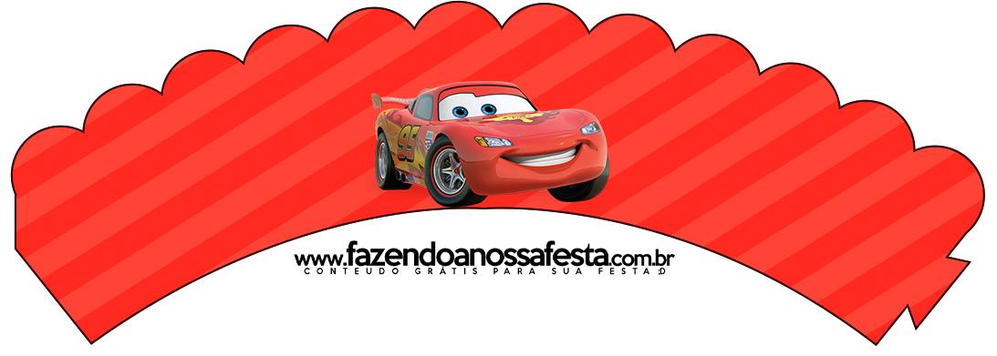 Saias Wrappers para Cupcakes Carros Disney