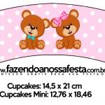 Saias Wrappers para Cupcakes Chá Revelação