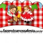 Saias Wrappers para Cupcakes Kit Festa Junina Vermelho e Branco