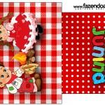 Saquinho de Chá Kit Festa Junina Vermelho e Branco