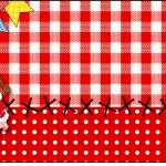 Squezze Kit Festa Junina Vermelho e Branco