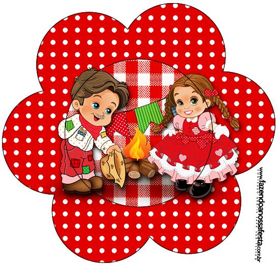 Tag Flor Kit Festa Junina Vermelho E Branco Fazendo A Nossa Festa
