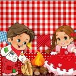 Tubetes Kit Festa Junina Vermelho e Branco