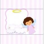 Bala Personalizada Batizado Anjinha Afro