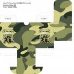Baleiro Kit Militar Camuflado