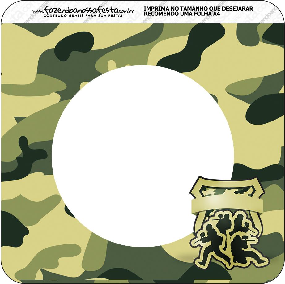 Bandeirinha Quadrada Kit Militar Camuflado