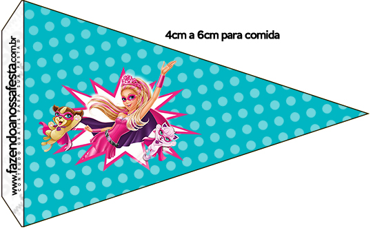 Bandeirinha Sanduiche 2 Barbie Super Princesa