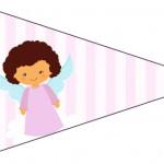 Bandeirinha Sanduiche 2 Batizado Anjinha Afro