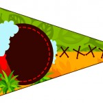 Bandeirinha Sanduiche 2 Dinossauro Cute