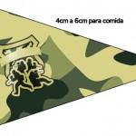 Bandeirinha Sanduiche 2 Kit Militar Camuflado