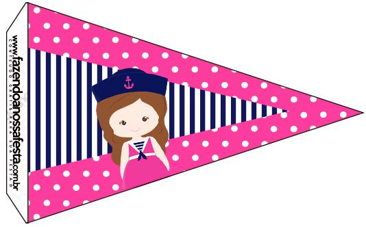 Bandeirinha Sanduiche 2 Menina Marinheira