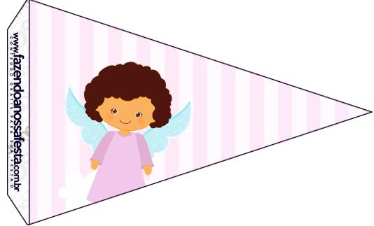 Bandeirinha Sanduiche 3 Batizado Anjinha Afro