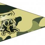 Bandeirinha Sanduiche 3 Kit Militar Camuflado