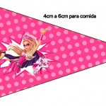 Bandeirinha Sanduiche 4 Barbie Super Princesa Rosa