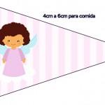 Bandeirinha Sanduiche 4 Batizado Anjinha Afro