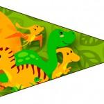 Bandeirinha Sanduiche 4 Dinossauro Cute