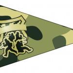 Bandeirinha Sanduiche 4 Kit Militar Camuflado