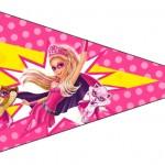 Bandeirinha Sanduiche 5 Barbie Super Princesa Rosa