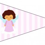 Bandeirinha Sanduiche 5 Batizado Anjinha Afro