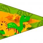 Bandeirinha Sanduiche 5 Dinossauro Cute