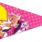 Bandeirinha Sanduiche 6 Barbie Super Princesa Rosa