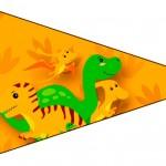 Bandeirinha Sanduiche 6 Dinossauro Cute