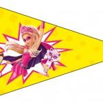 Bandeirinha Sanduiche 7 Barbie Super Princesa Rosa