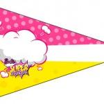 Bandeirinha Sanduiche 8 Barbie Super Princesa Rosa