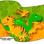 Bandeirinha Sanduiche Dinossauro Cute