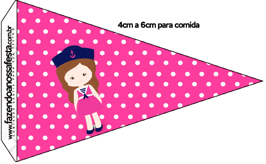 Bandeirinha Sanduiche Menina Marinheira
