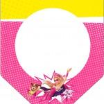 Bandeirinha Varalzinho Barbie Super Princesa Rosa