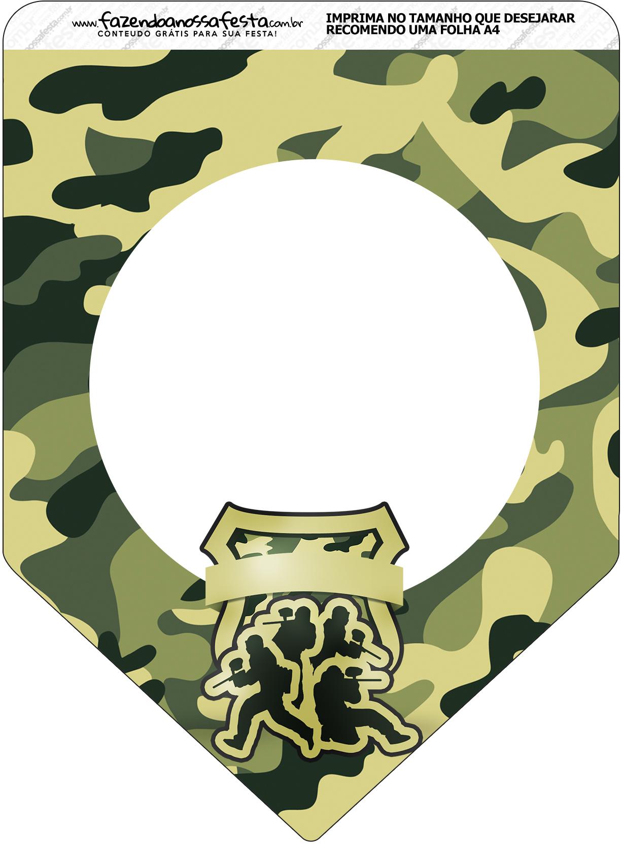 Bandeirinha Varalzinho Kit Militar Camuflado
