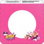 Bandeirinha Varalzinho Quadrada Barbie Super Princesa Rosa