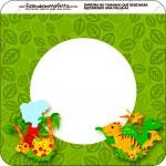 Bandeirinha Varalzinho Quadrada Dinossauro Cute