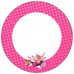 Rótulo para Docinhos Barbie Super Princesa Rosa