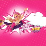 Barbie Super Princesa Rosa Convite