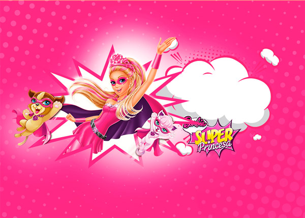 Barbie Super Princesa Rosa Modelo