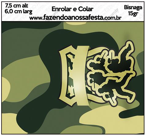 Bisnaga 15gr Kit Militar Camuflado