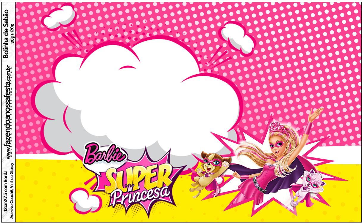 Bolinha de Sabão Barbie Super Princesa Rosa