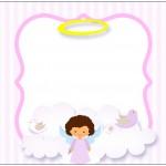 Bolinha de Sabão Batizado Anjinha Afro