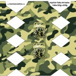 Caixa Bala Kit Militar Camuflado