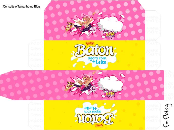 Caixa Batom Garoto Barbie Super Princesa Rosa